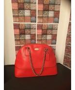Coach F76673 Pebble Leather Dome Crossbody Bag Bright Cardinal $298 - $89.00