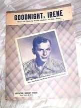 VINTAGE SHEET MUSIC *GOODNITE IRENE ( FRANK SINATRA) PUBLISHED 1950 - $6.76