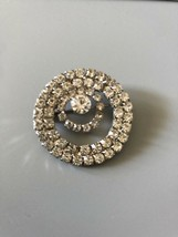 Classy And Sophisticated Vintage Signed Monet Round Rhinestone Brooch/Pin - $7.18
