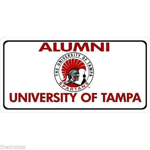 Primary image for UNIVERSITY OF TAMPA ALUMNI COLLEGE LOGO PHOTO LICENSE PLATE MADE IN USA