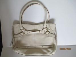 Franco Sarto Arroyo Pebbled Leather Ivory/Beige Tote, purse, handbag, sh... - $34.65