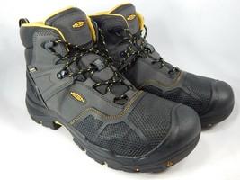 Keen Logandale Sz 14 M (D) EU 47.5 Men's WP Steel Toe Work Boots Black 1017828