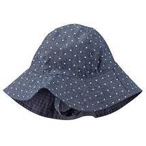 Carter's Baby Girl's Chambray Star Print Sun Hat, Navy - $18.50
