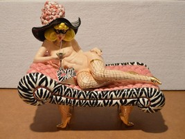 SWAK Lynda Corneille Ceramic Whimsical Nude Aunt Gertie On Sofa Figurine - $123.75