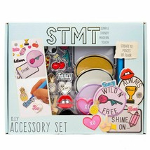 STMT 10-Pc of Flair Patches Charmes Pins DIY Art and Craft Accessory Set NEW