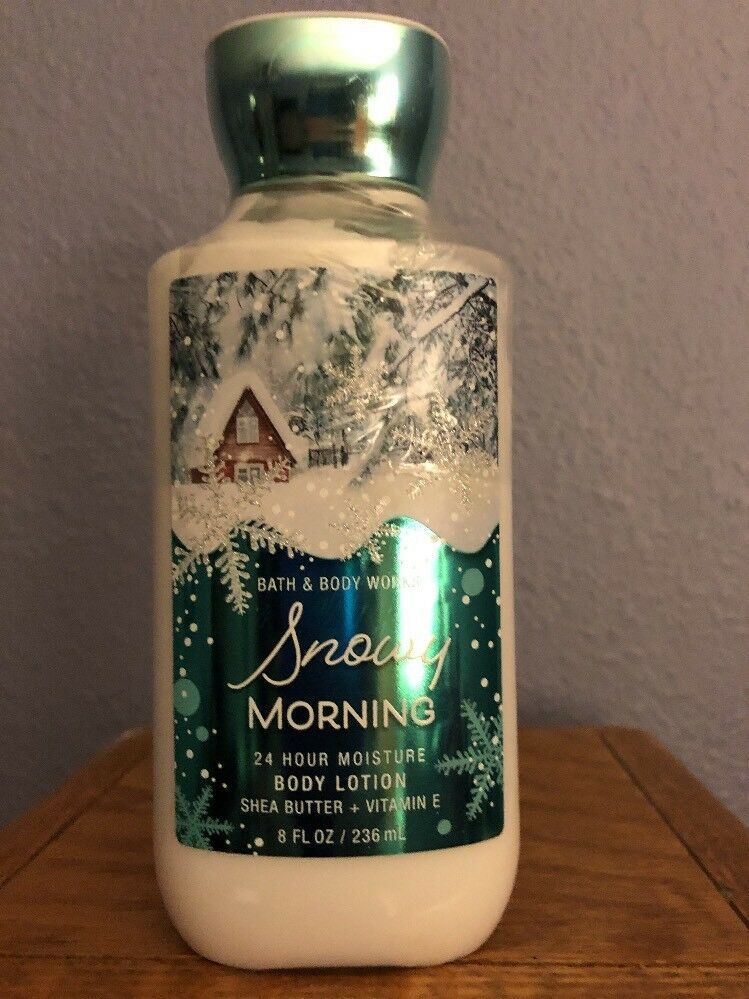 Bath & Body Works Snowy Morning Body Lotion New Sealed 8 OZ
