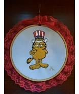 Embroidered Garfield Wall Art  - $19.00