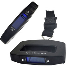 50kg Digitale da Viaggio Portatile Palmare Pesatura Bagagli Bilancia Val... - $11.77