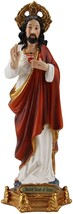 Sacred Heart of Jesus Christ 8 Inch Colored Resin Statue - $29.99