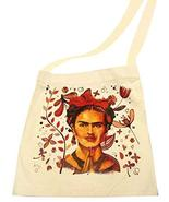 "Canvas Tote self-portrait Frida Khalo Print 14""x16"" Grocery Market Femin... - $11.87"
