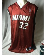 Shaquille O'Neal  Basketball Jersey Reebok Sz Large Miami Heat 32 Screened - $18.50