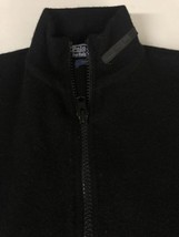 Polo Ralph Lauren Men Sweater Vest Full Zip Mock Neck 100% Wool Black Large L - $23.05
