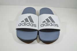 best sneakers 4c464 2ebbb Adidas New Mens 15 Cloud Foam Adilette Soccer Sildes Sandals Gray White -  34.60