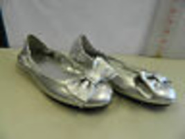 Lauren Ralph Lauren New Womens New Womens Evelia Silver Flats 6 M Shoes - $37.57