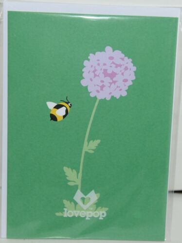 Lovepop LP1706 Bumblebee Pop Up Card with White Envelope Cellophane Wrapped