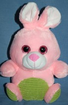 "Hug & Luv Love EASTER BUNNY RABBIT 9"" Pink Sparkle Eye Plush Soft Toy Gr... - $15.42"