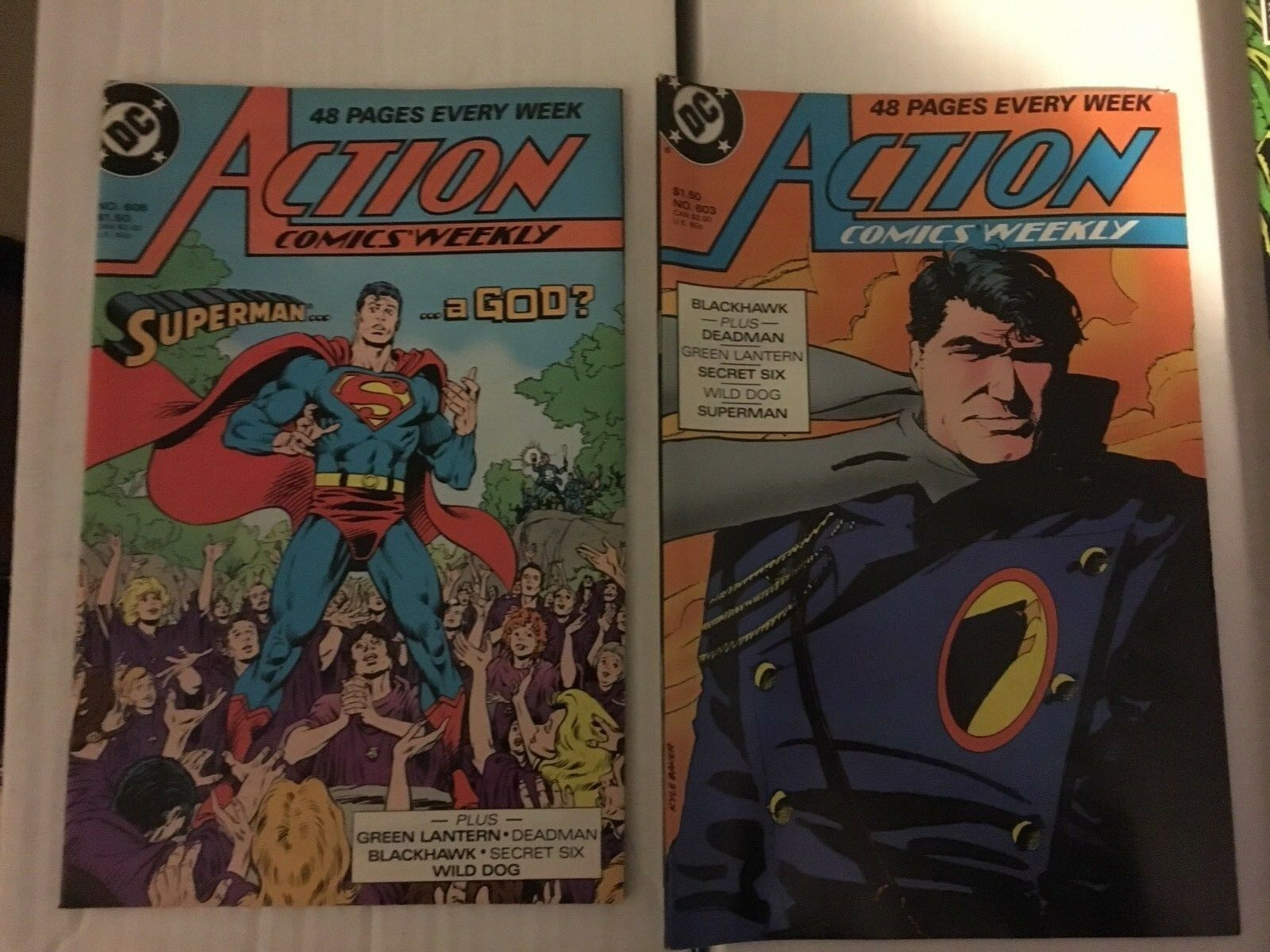 Action Comic #598 - 607 Superman DC Comic Book Lot VF Condition 1987-88