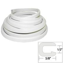 TACO Flexible Vinyl Trim - ½ Opening x ⅝W x 25L - White - $69.53