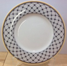 NEW Villeroy & Boch Audun Promenade Dinner Plate Yellow Band Black Latti... - $34.58