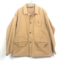 Polo Ralph Lauren Chore Canvas Hunting Men XL Jacket Fishing Tan Game Pockets - $128.65