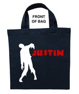 Zombie Trick or Treat Bag, Personalized Zombie Halloween Bag, Zombie Loo... - $11.99+