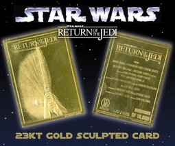 """STAR WARS """"RETURN OF THE JEDI"""" 23K GOLD CARD LIMITED EDITION OF 10000 - $8.56"""