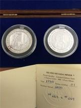 1988 Nevada Silver Miner .999 2 Pc. Proof Box & COA - $98.32