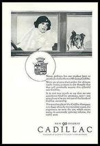 Flapper Drives Collie Dog in 90 Degree Cadillac 1926 Print Ad - $14.99