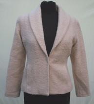 Eileen Fisher Sz XS Blazer Jacket Wool Blend Cream Light Beige Sport Coa... - $38.70