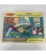 Melissa & Doug NEW Fanciful Friends Puzzles in a Box - MERMAID - 4 puzzl... - $9.67