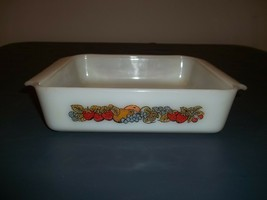 "Vintage Anchor Hocking Fire King NATURES BOUNTY 8"" Square Cake Pan - $19.79"