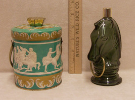 2 Vintage Avon Horse Head Decanter Bottle Empty and Riley Brothers Toffe... - $8.86