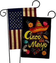 Sombrero Cinco De Mayo Burlap - Impressions Decorative USA Vintage Applique Gard - $34.97