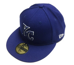 *7 5/8* New Era Kansas City Royals MLB  59FIFTY Fitted Cap Royal Blue White