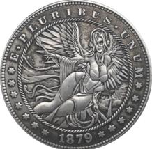 Hobo Nickel 1879 Morgan Dollar Beautiful Woman Angel Mother Earth Casted... - $9.49