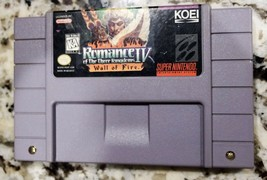 Romance of the Three Kingdoms IV: Wall of Fire (Super Nintendo, 1995)- Tested - $25.68