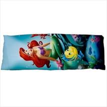 dakimakura body hugging pillow case cover ariel the little mermaid flounder - $36.00