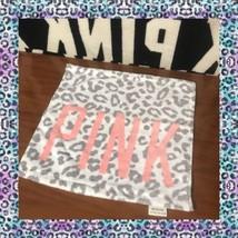 Victoria's Secret PINK RARE Gray Leopard Hand Towel NEW VS PINK - $24.12