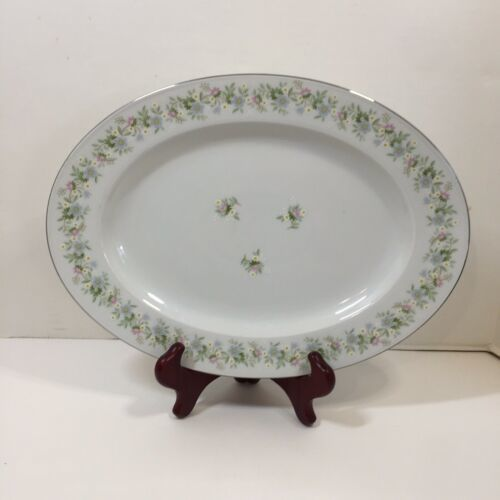 "Primary image for Oval Serving Platter 12.75""x9.5"" Forever Spring Johann Haviland Barvaria Germany"