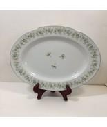 """Oval Serving Platter 12.75""""x9.5"""" Forever Spring Johann Haviland Barvaria... - $19.34"""