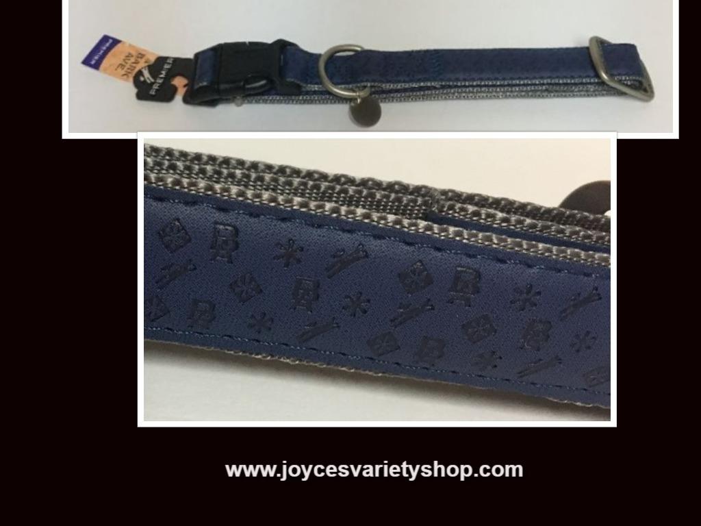 Blue dog collar bark web collage