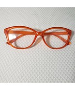 New Betsey Johnson +1.50 Cat Eye Reading Glasses Orange Frame Pinup Retro - $37.09