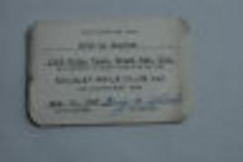Vintage 1947? Nicolet Rifle Club of Green Bay Wisconsin Member Card Milt... - $9.99