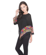 Ultra Glam Adore One-Sleeve Bright Color Shimmering Embellished Fringed ... - $43.90