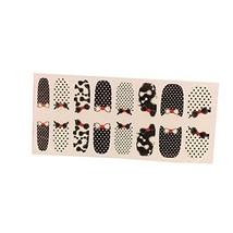 [Set of 2]Easily Apply 12 PCS Artificial Nail Polish Sticker,Dots & Bowknot image 2