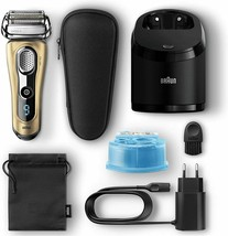 Braun series 9 9299 cc electric shaver mens cleaning station and charge ... - $818.13