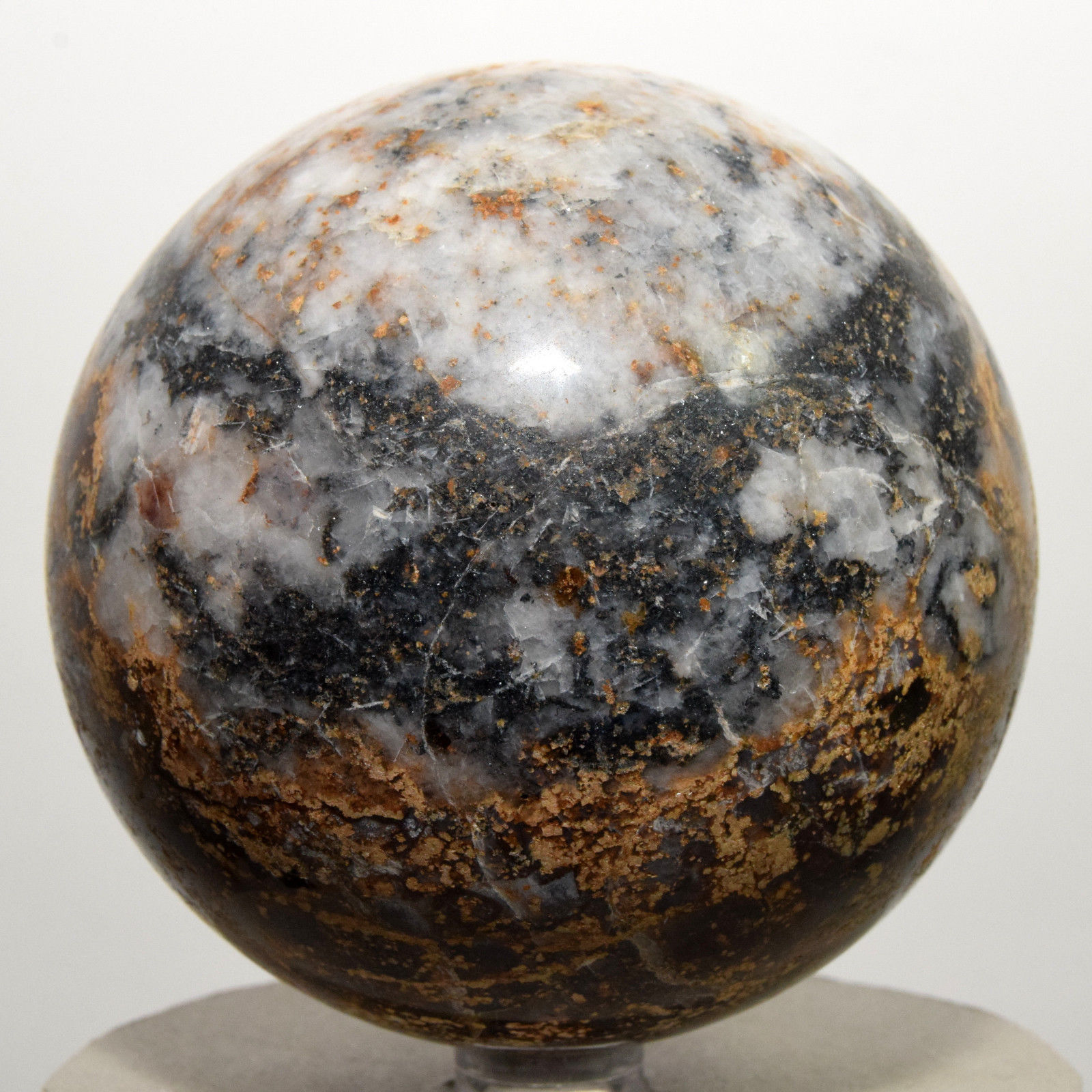 Red Blue Stone : Quot blue orange red pietersite sphere natural chatoyant