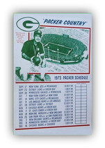 Green Bay Packers Schedule 1973 Football Poster - FREE Shipping - $9.99