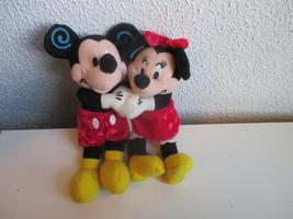 "Mickey and Minnie Mouse Huggers Bean Bag stuffed 8""  - $6.99"