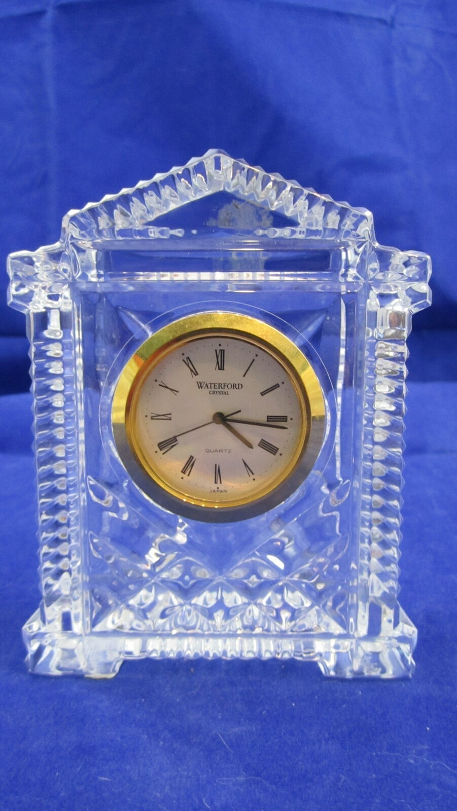 Primary image for Waterford Crystal Clock Grecian Style Desk Mantle Shelf Made in Ireland